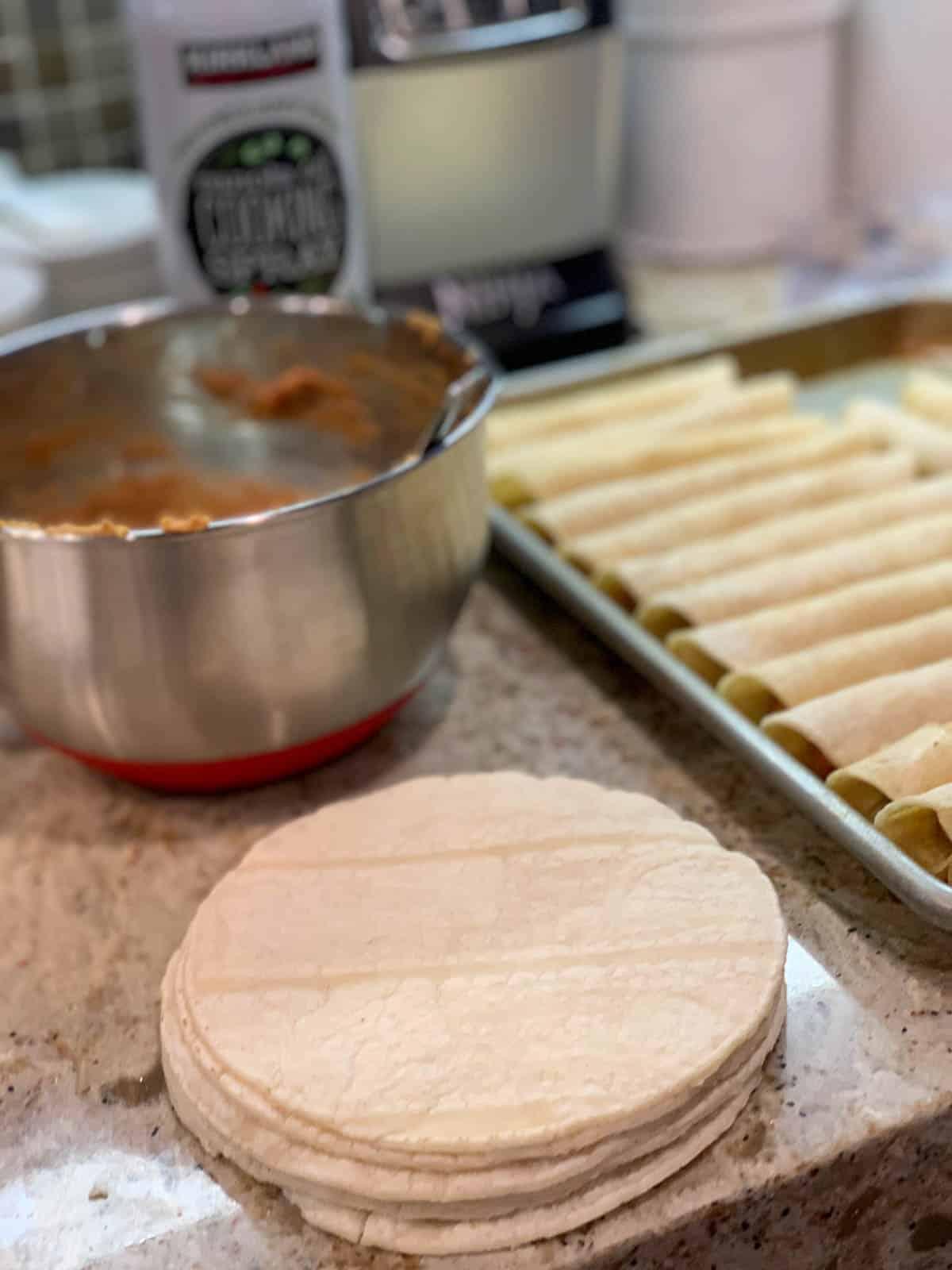 corn burritos preparation