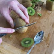 cut kiwi fruit