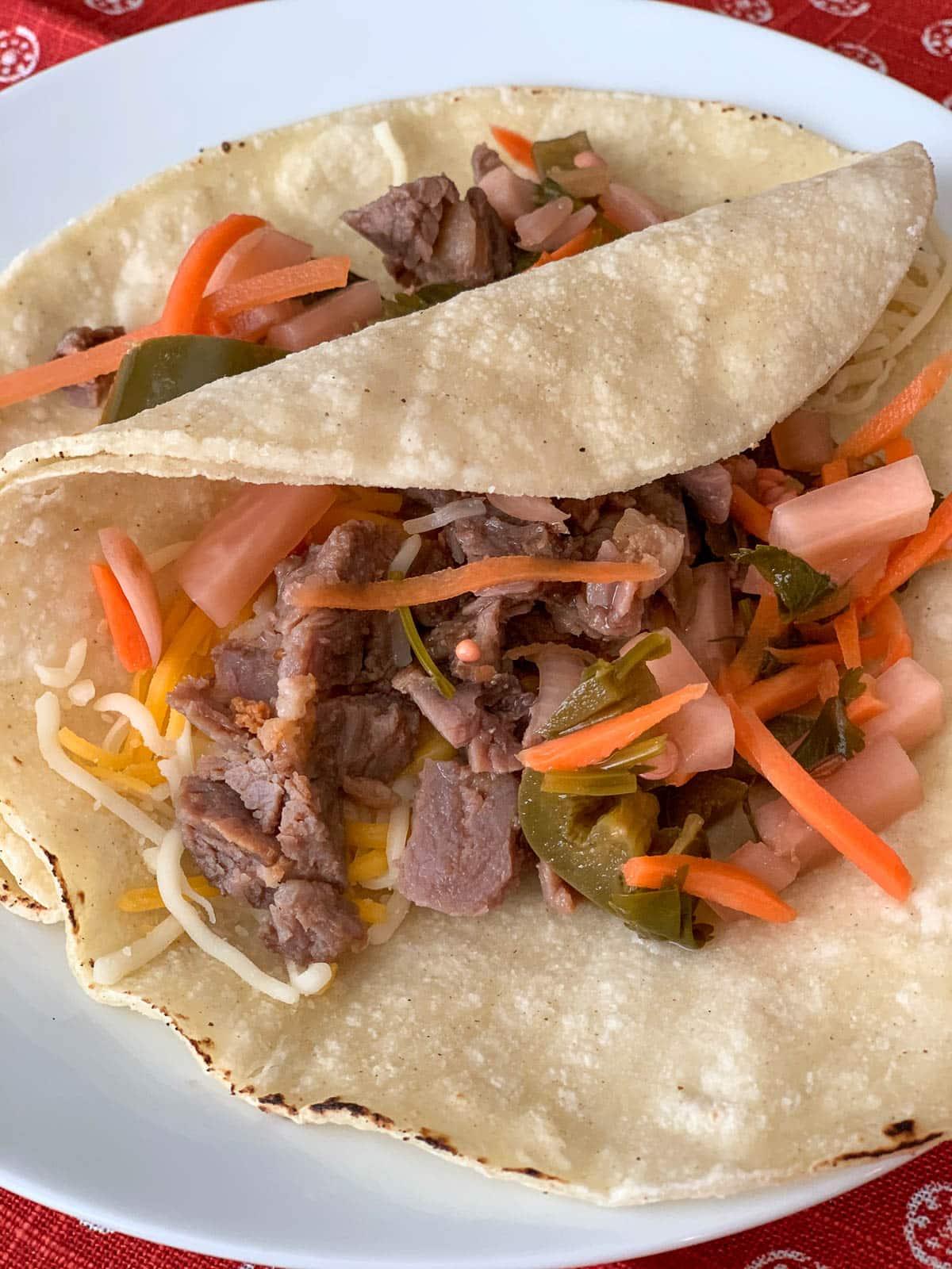 pickled veggie taco topping