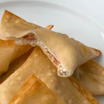 baked cream cheese bacon wontons