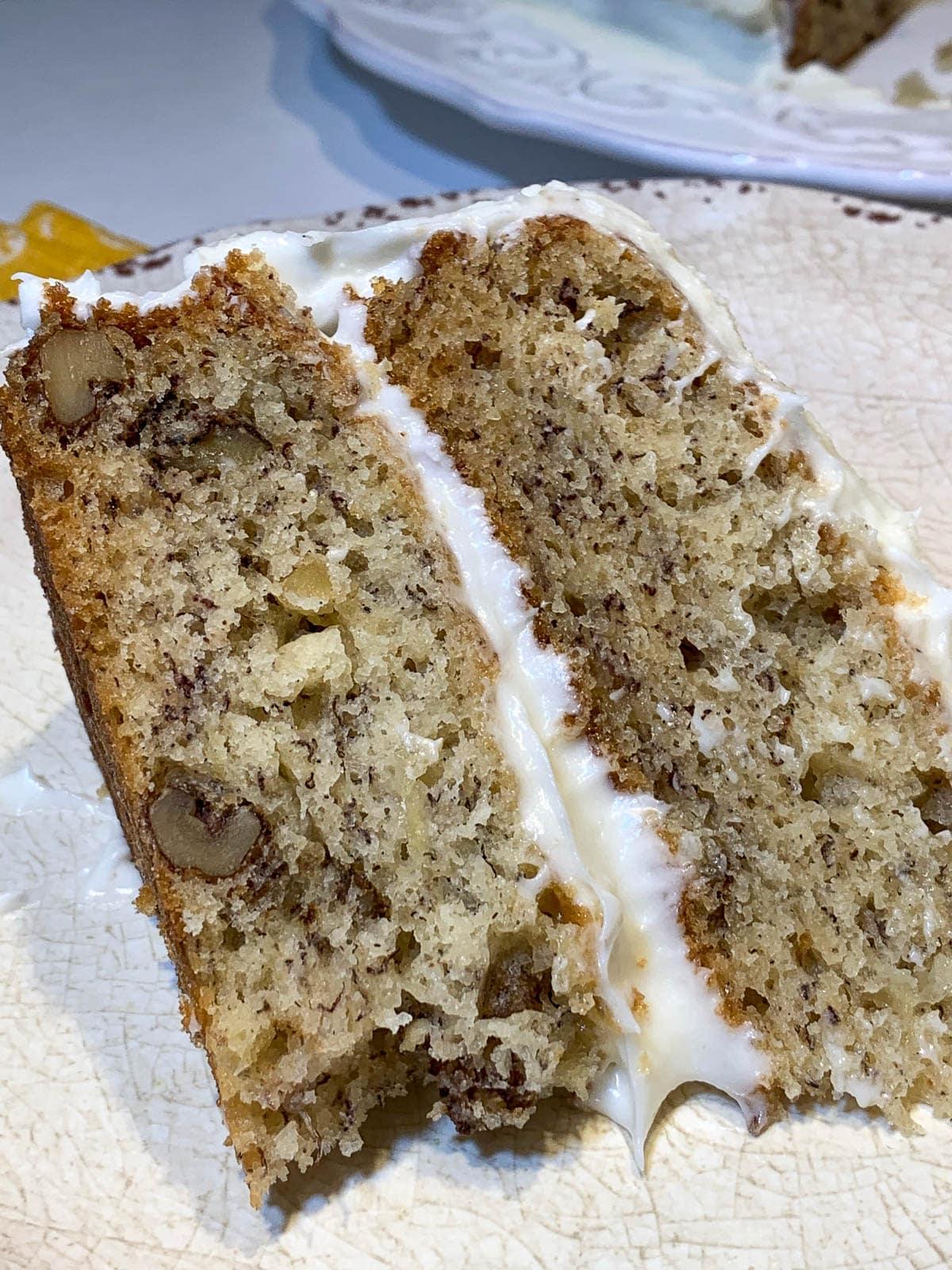 banana cake with walnuts