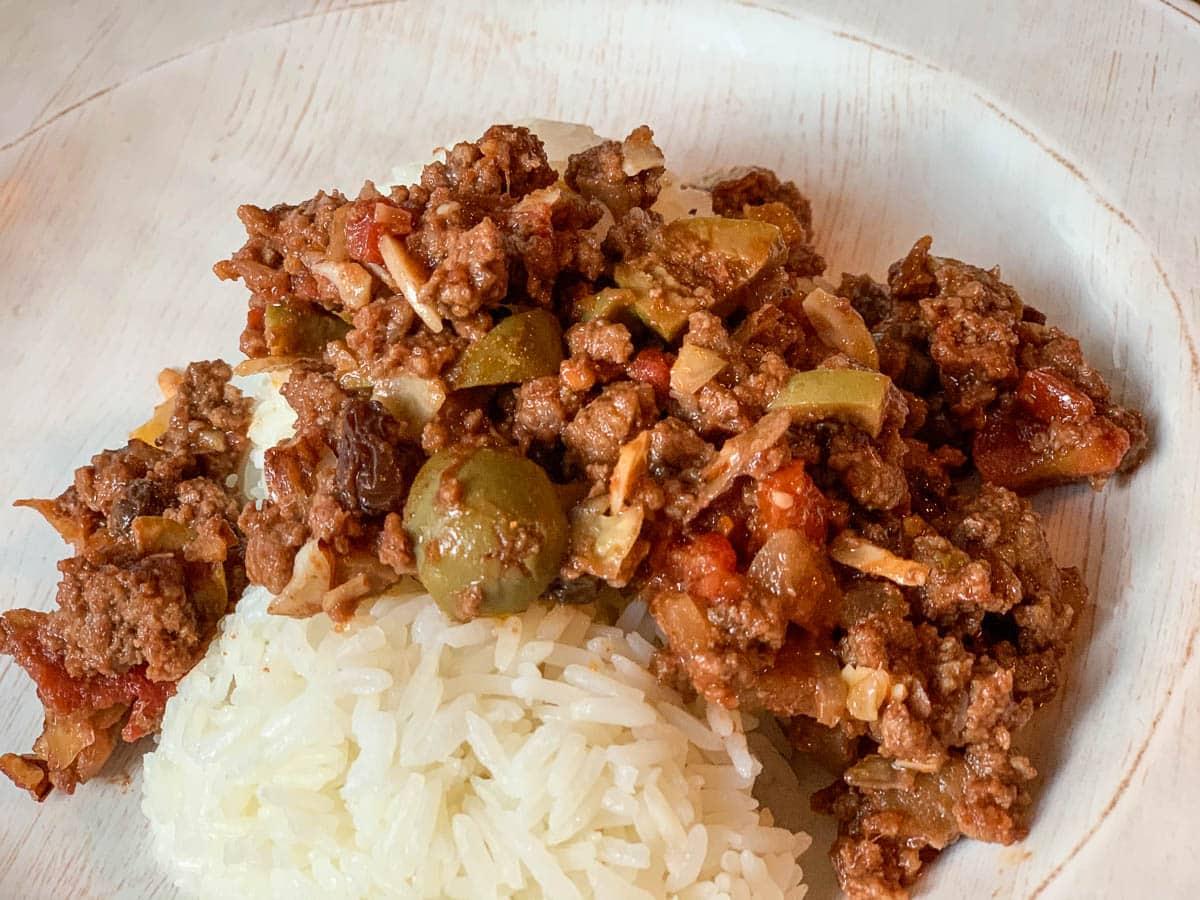easy beef picadillo