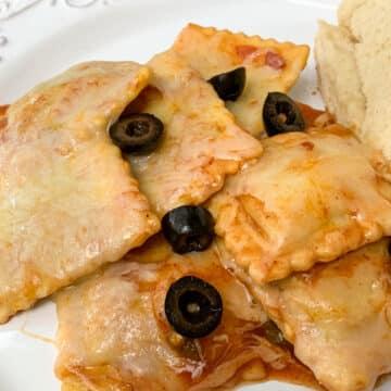 fiesta ravioli with black olives