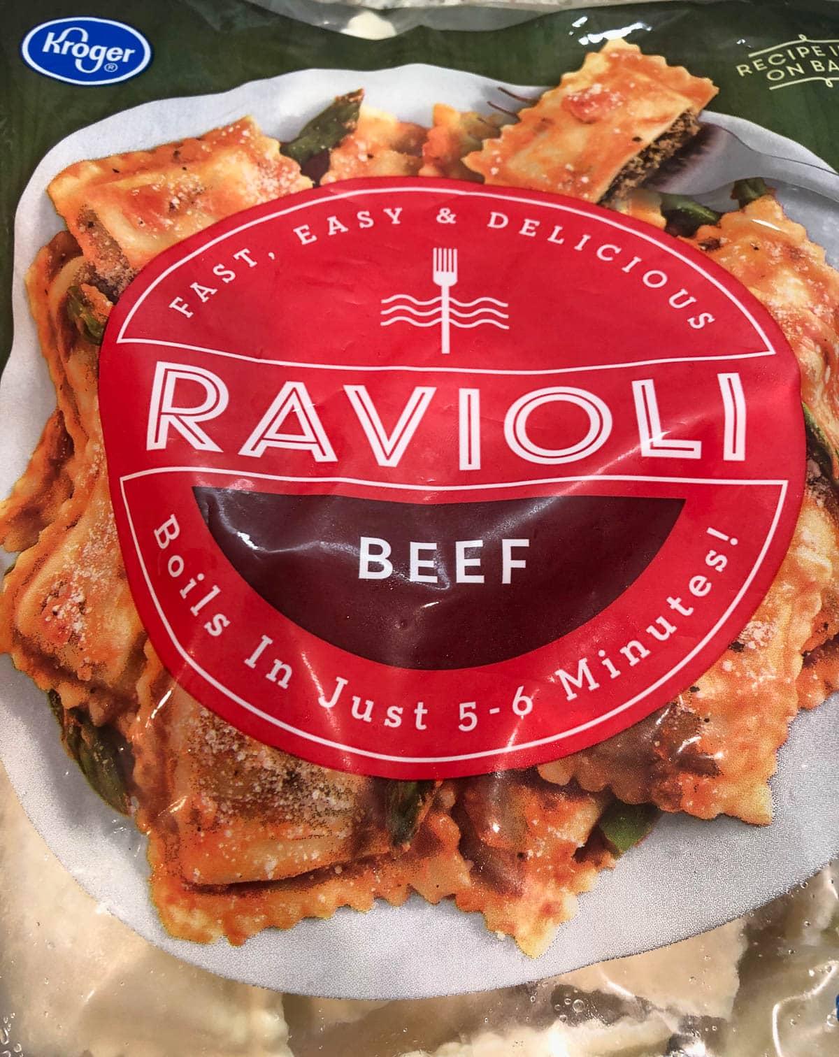 frozen beef ravioli