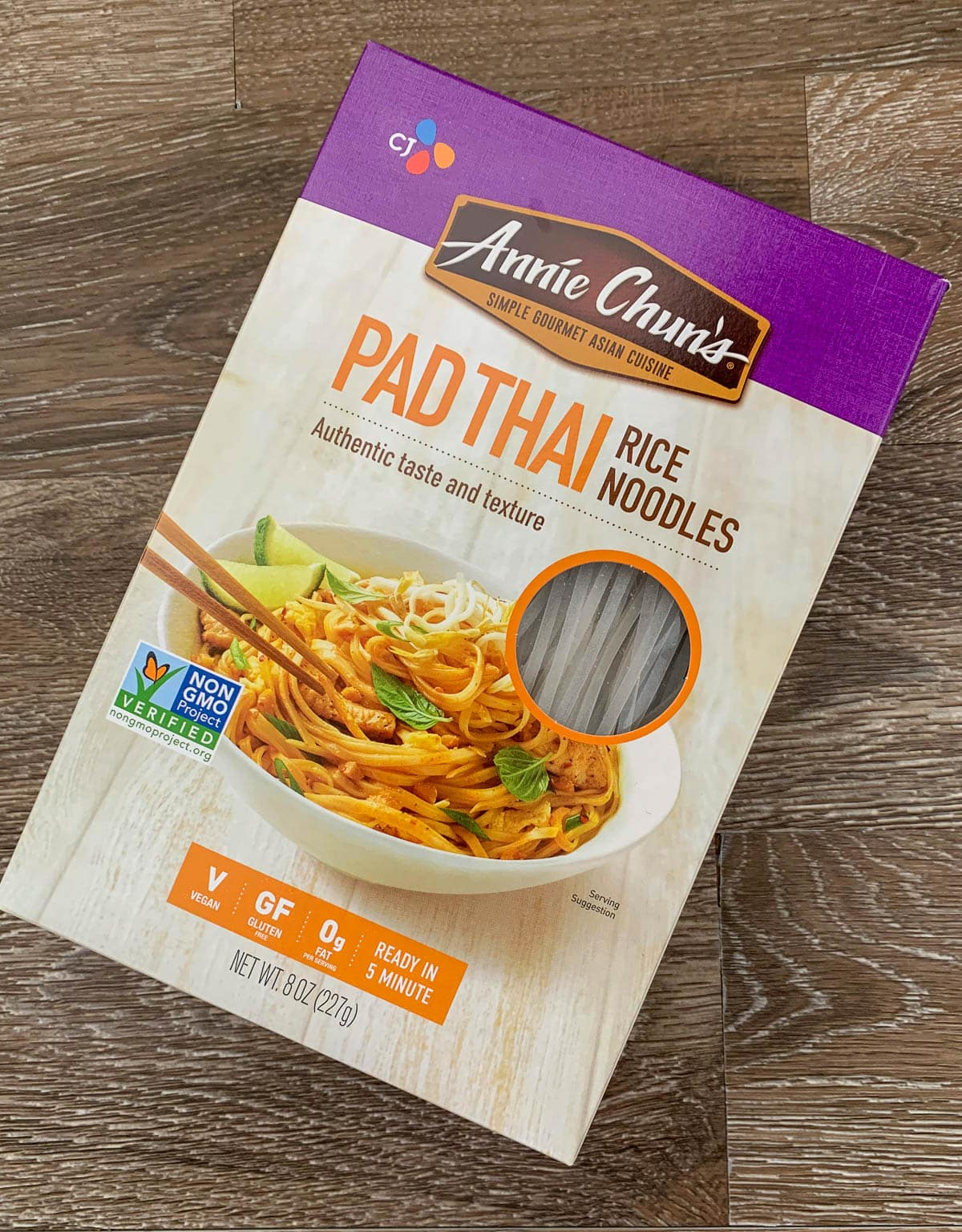 box of pad thai rice noodles