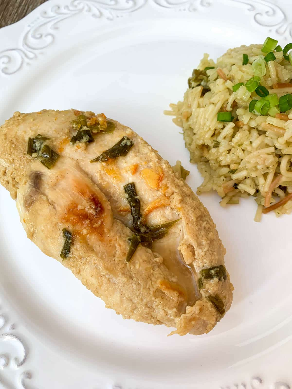 apricot mustard chicken with rice
