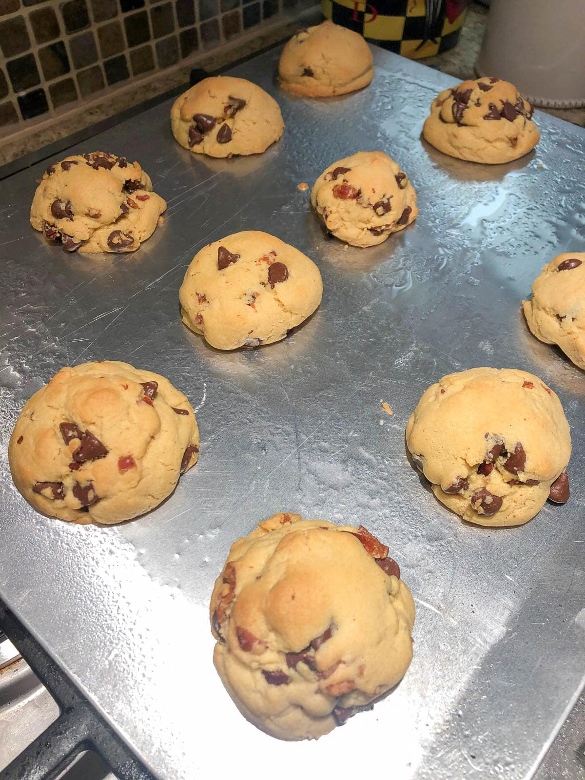 cookies fresh out of the oven