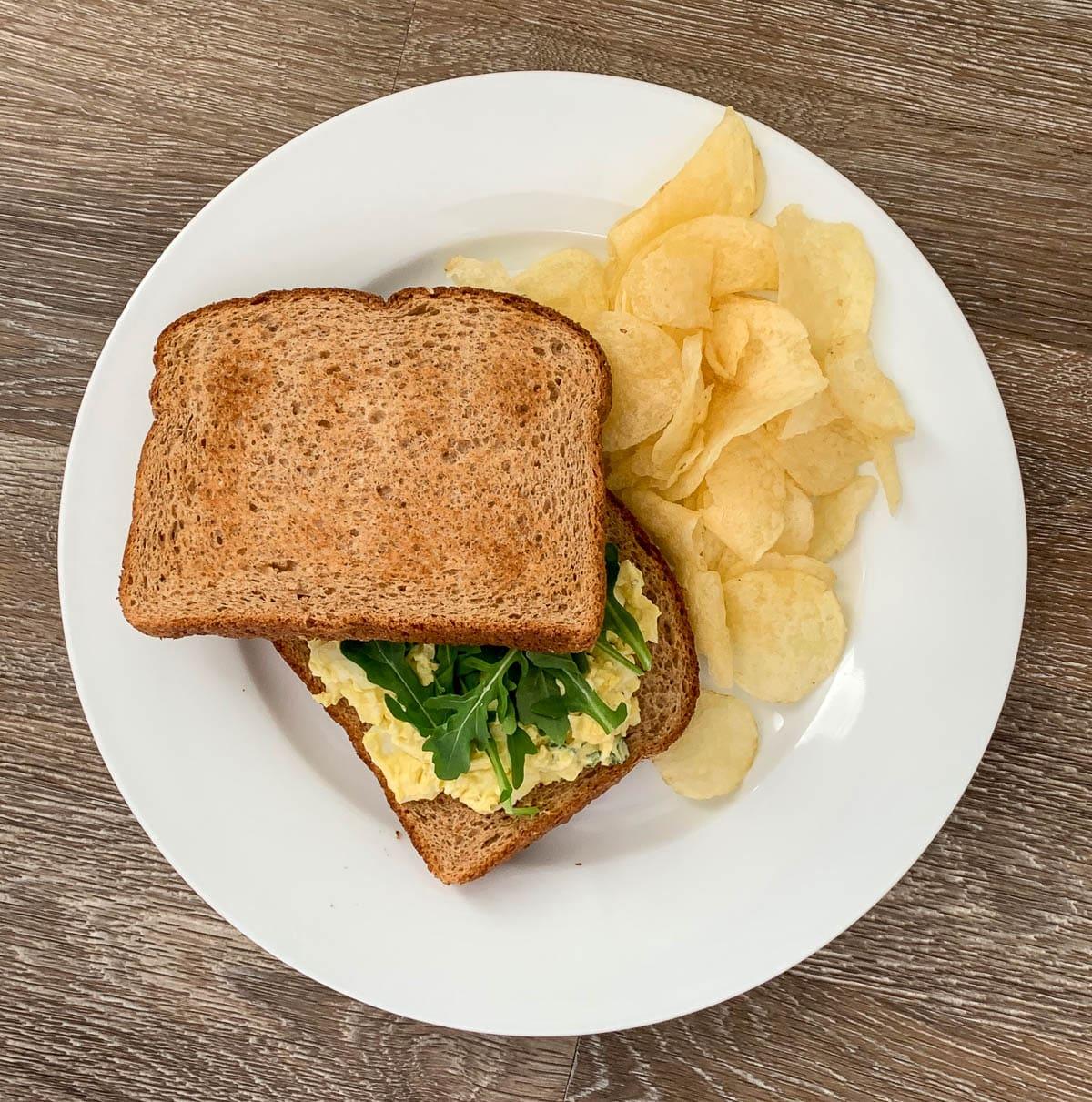 pverhead starbucks egg salad sandwich