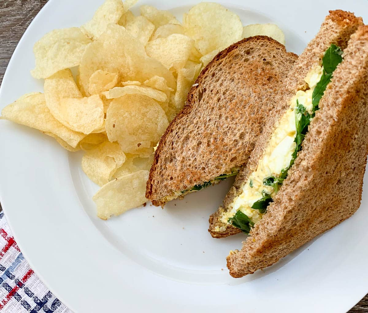 starbucks egg salad sandwich with chips