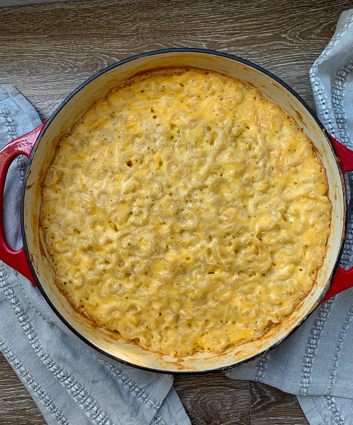 mac & cheese fresh out of the oven