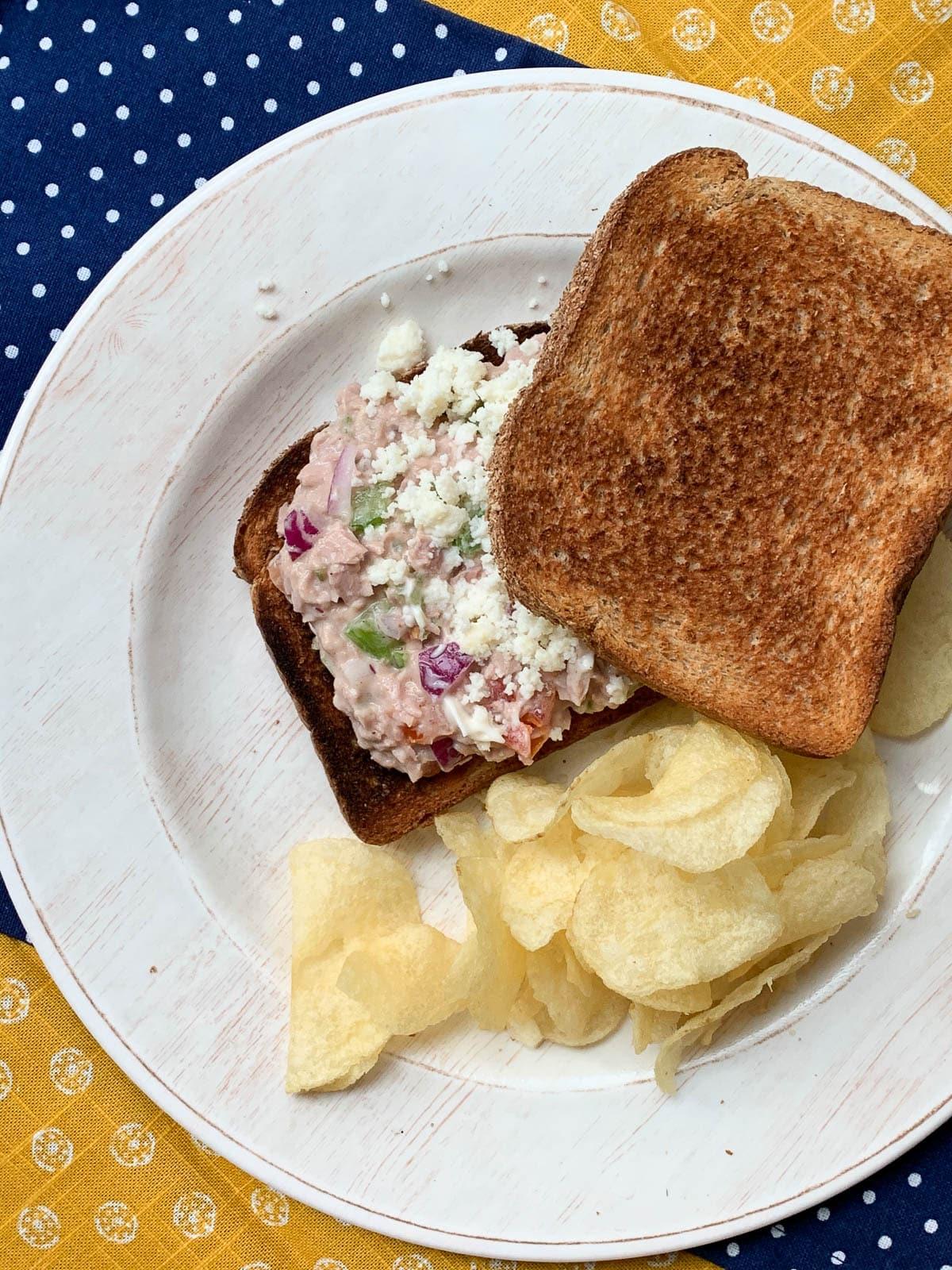 super tuna salad sandwich