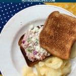 tuna salad sandwich with tajin