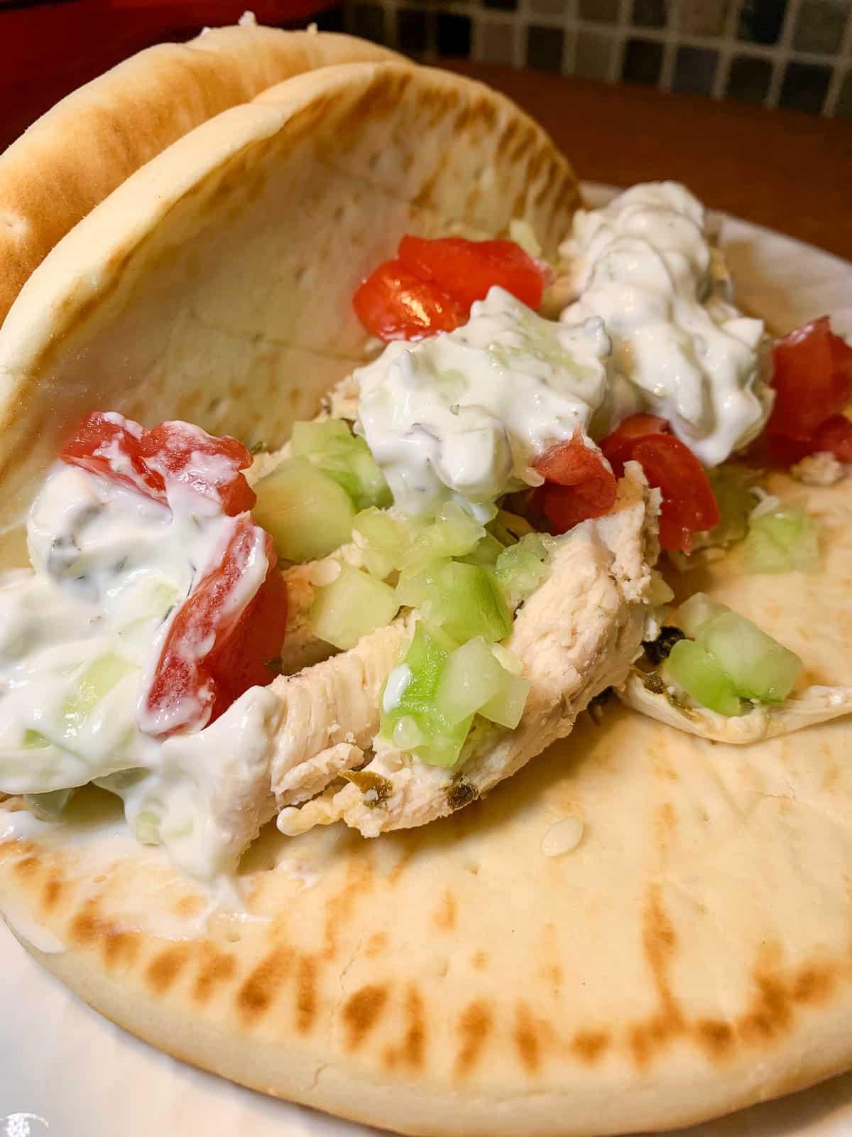 yummy greek wraps