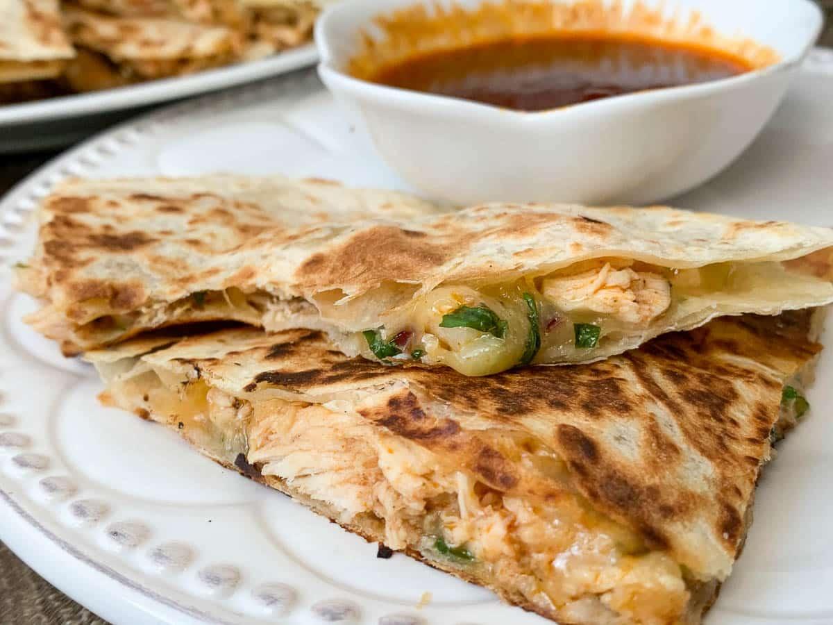 quesadillas with bbq sauce