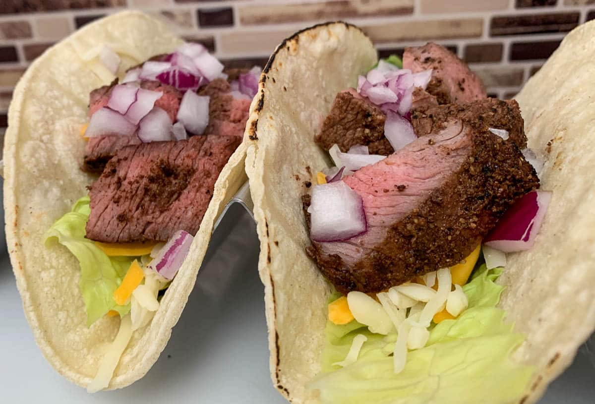 tri-tip tacos with dry rub
