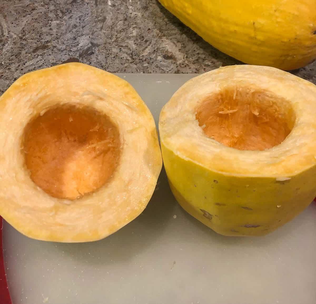 squash cut in half
