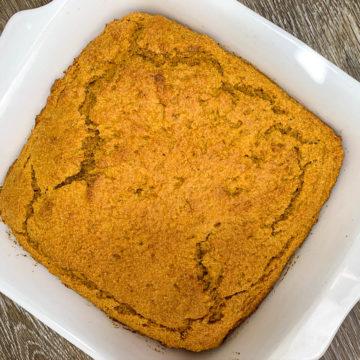 overhead pumpkin cornbread