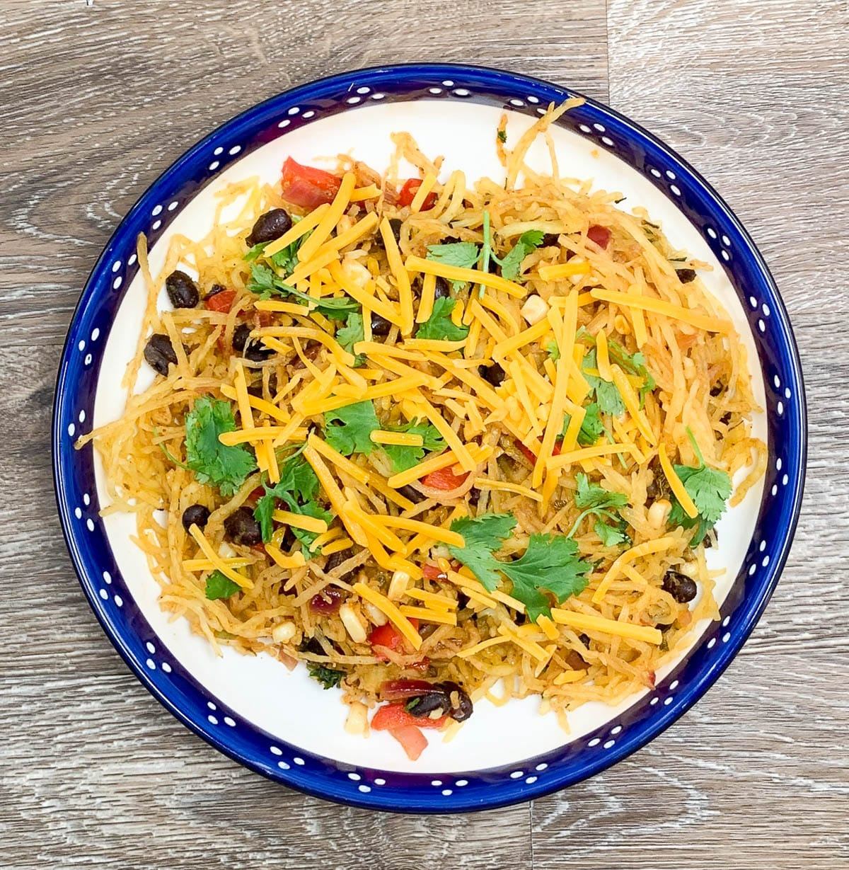 Spaghetti Squash with Peppers and Beans