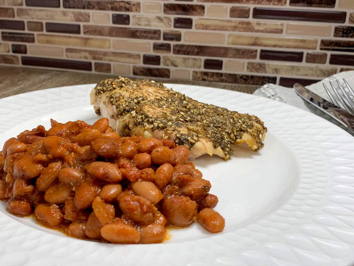 beans with chicken