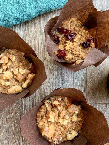 apple cinnamon oatmeal muffins