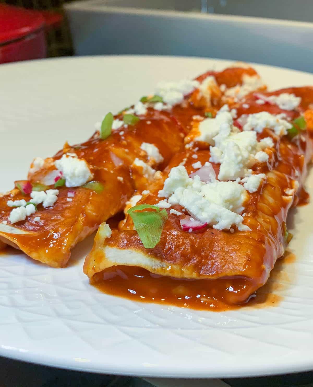 simple cheese enchiladas