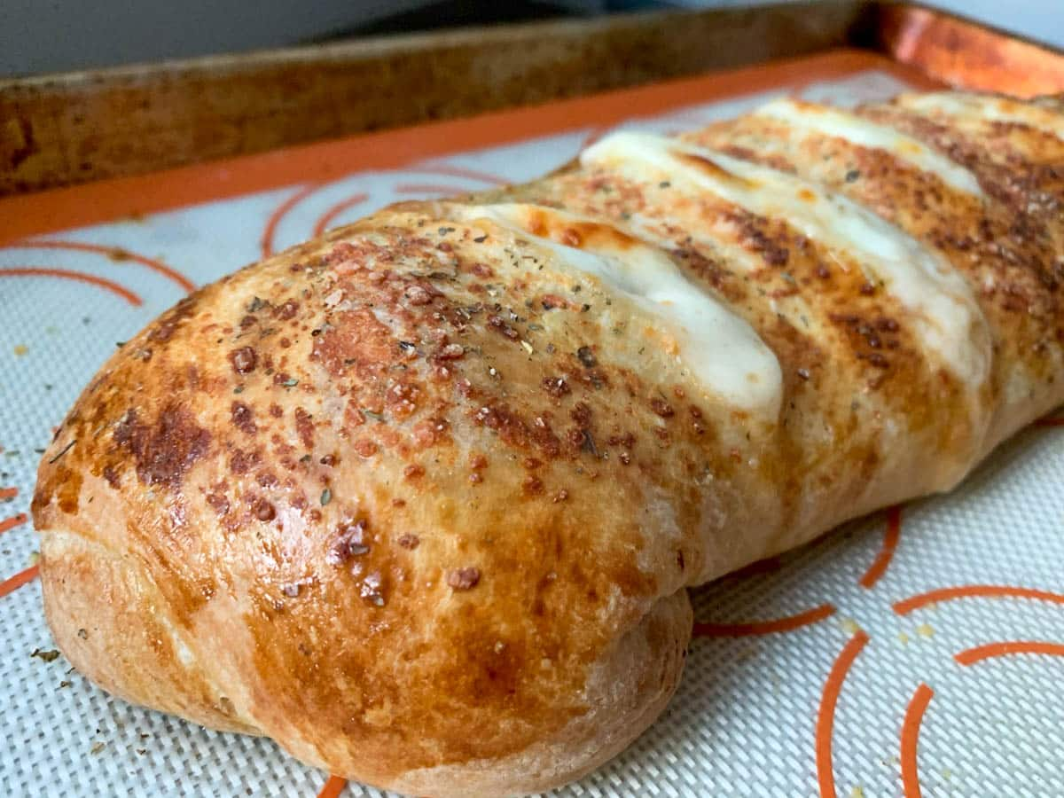 stromboli. fresh out of the oven