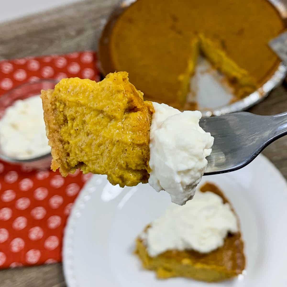 closeup of pie