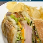 club house sandwich with basil aioli