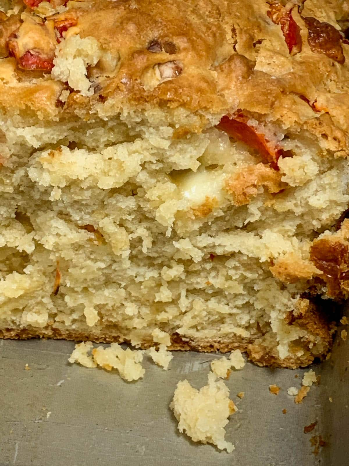 closeup of beer bread