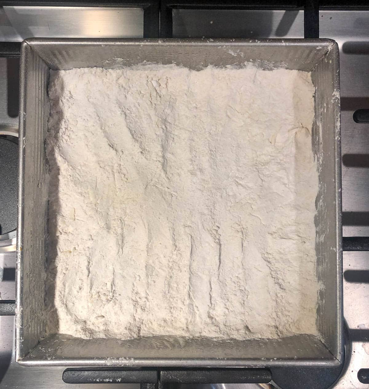 flour and butter base ready for baking