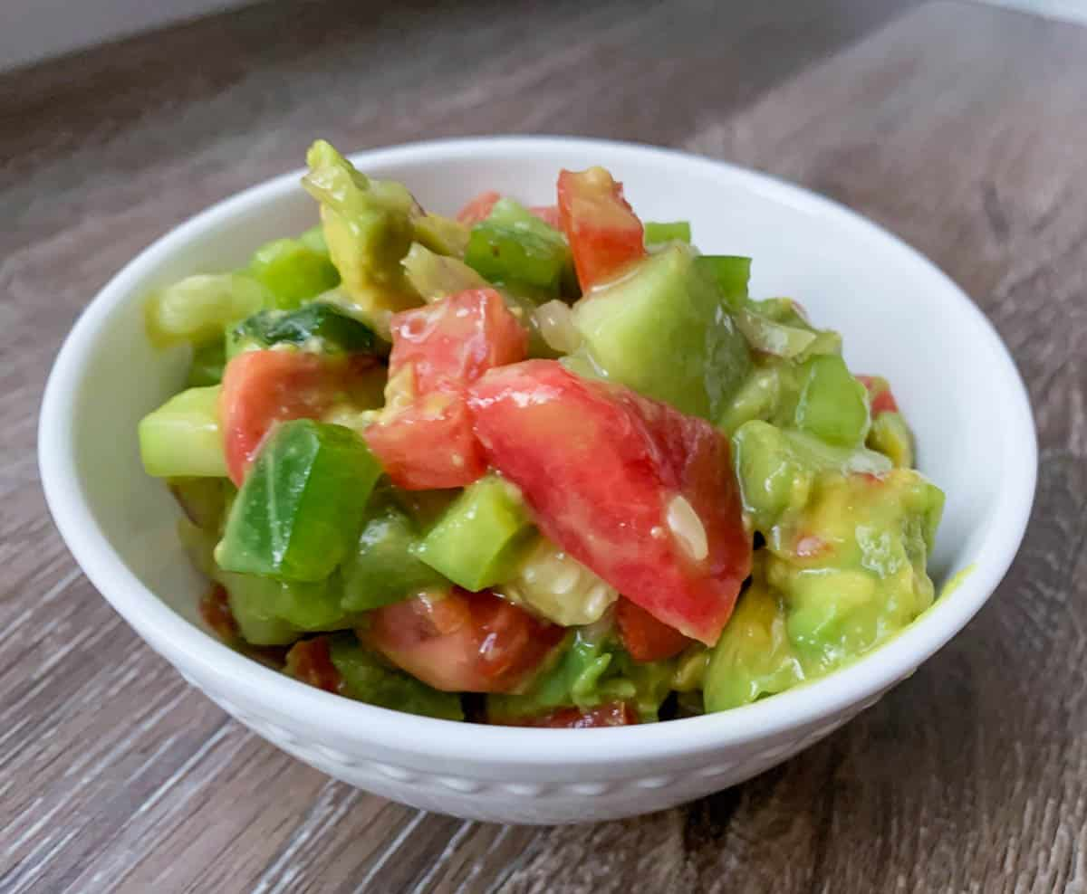 salsa in a white bowl