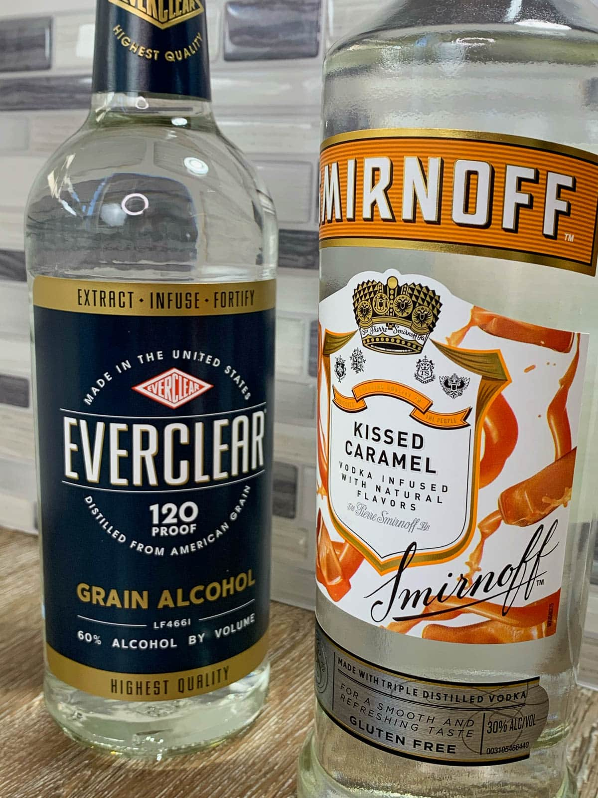 everclear grain alcohol and caramel vodka