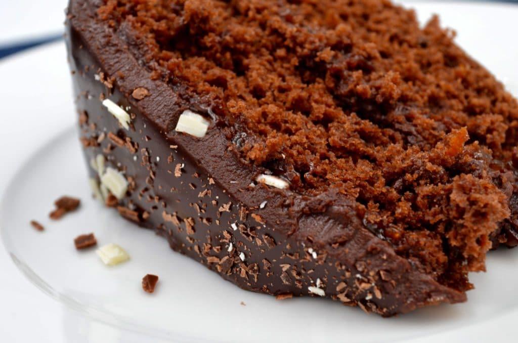 slice of chocolate orange cake