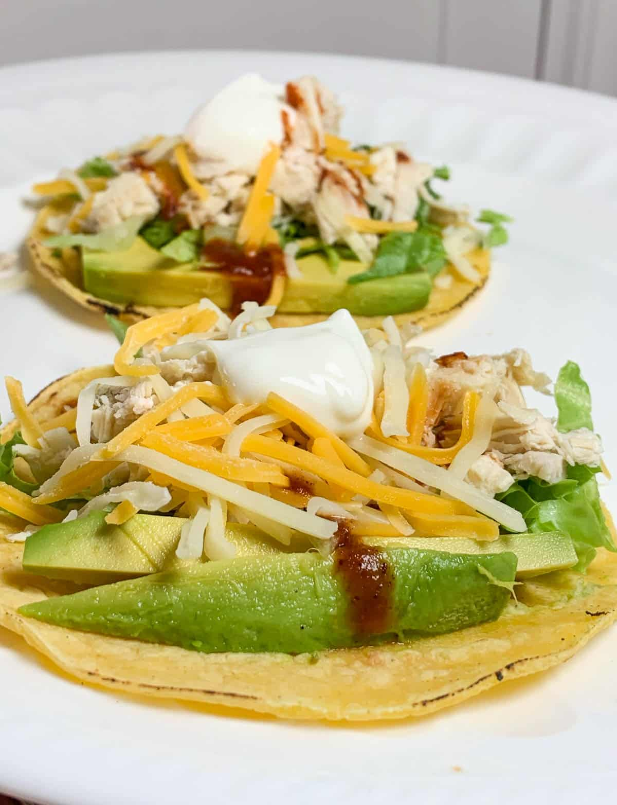 chicken tacos with hot sauce