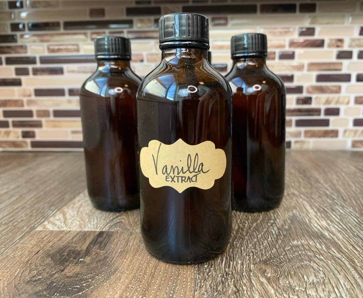 vanilla in bottles