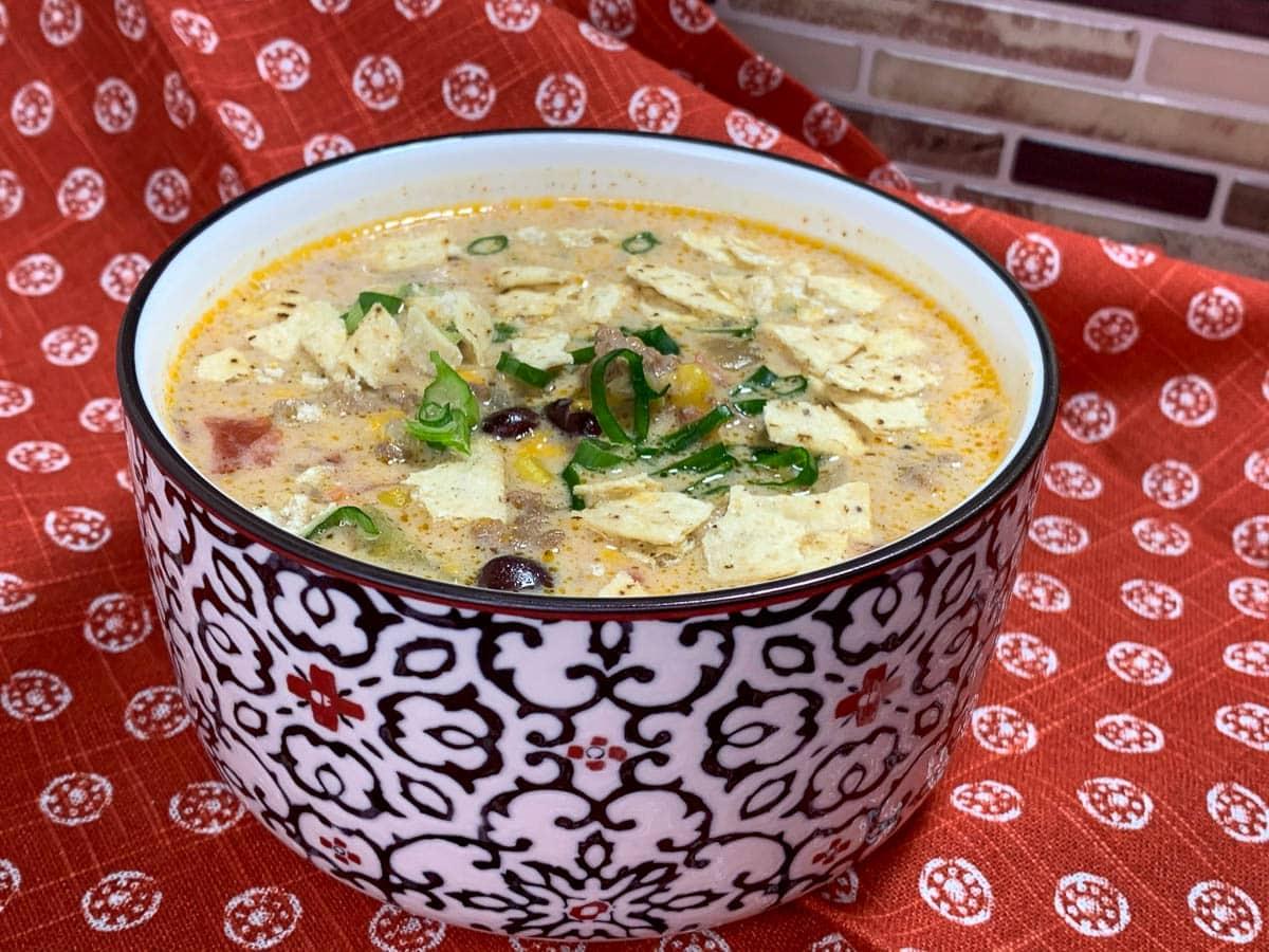 slow cooker nacho soup