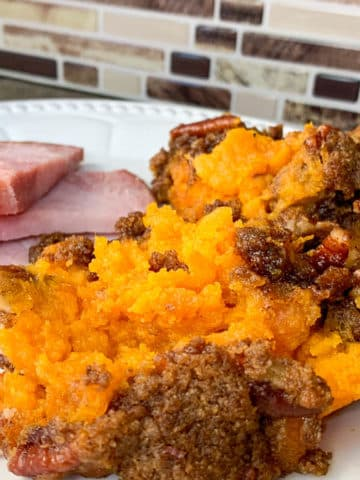 sweet potatoes with ham
