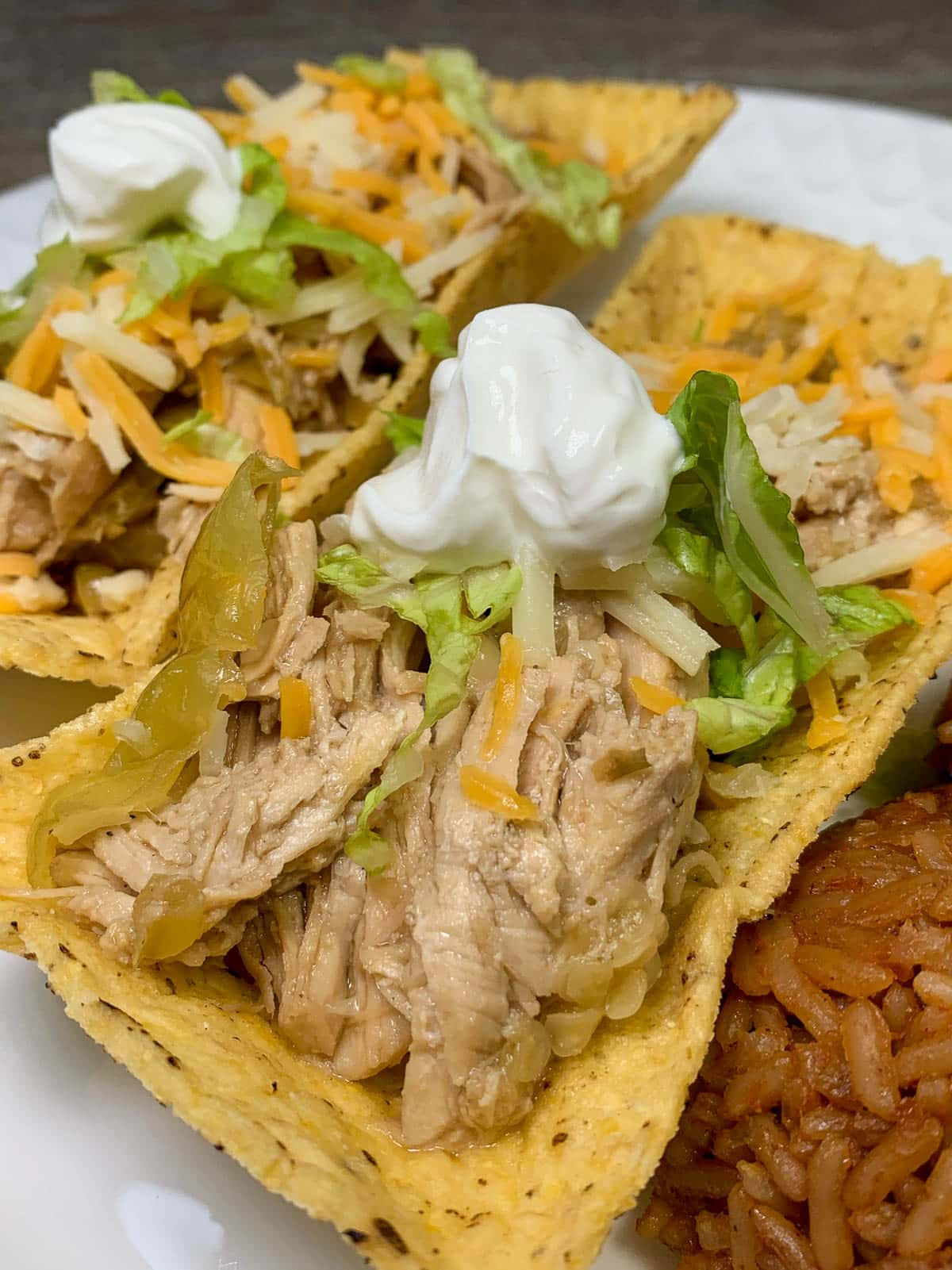 mississippi chicken in taco boat