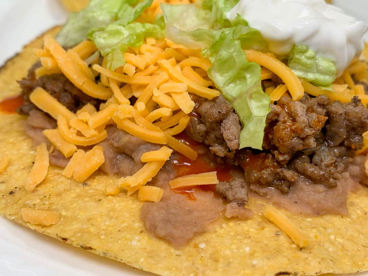 easy beef tostadas