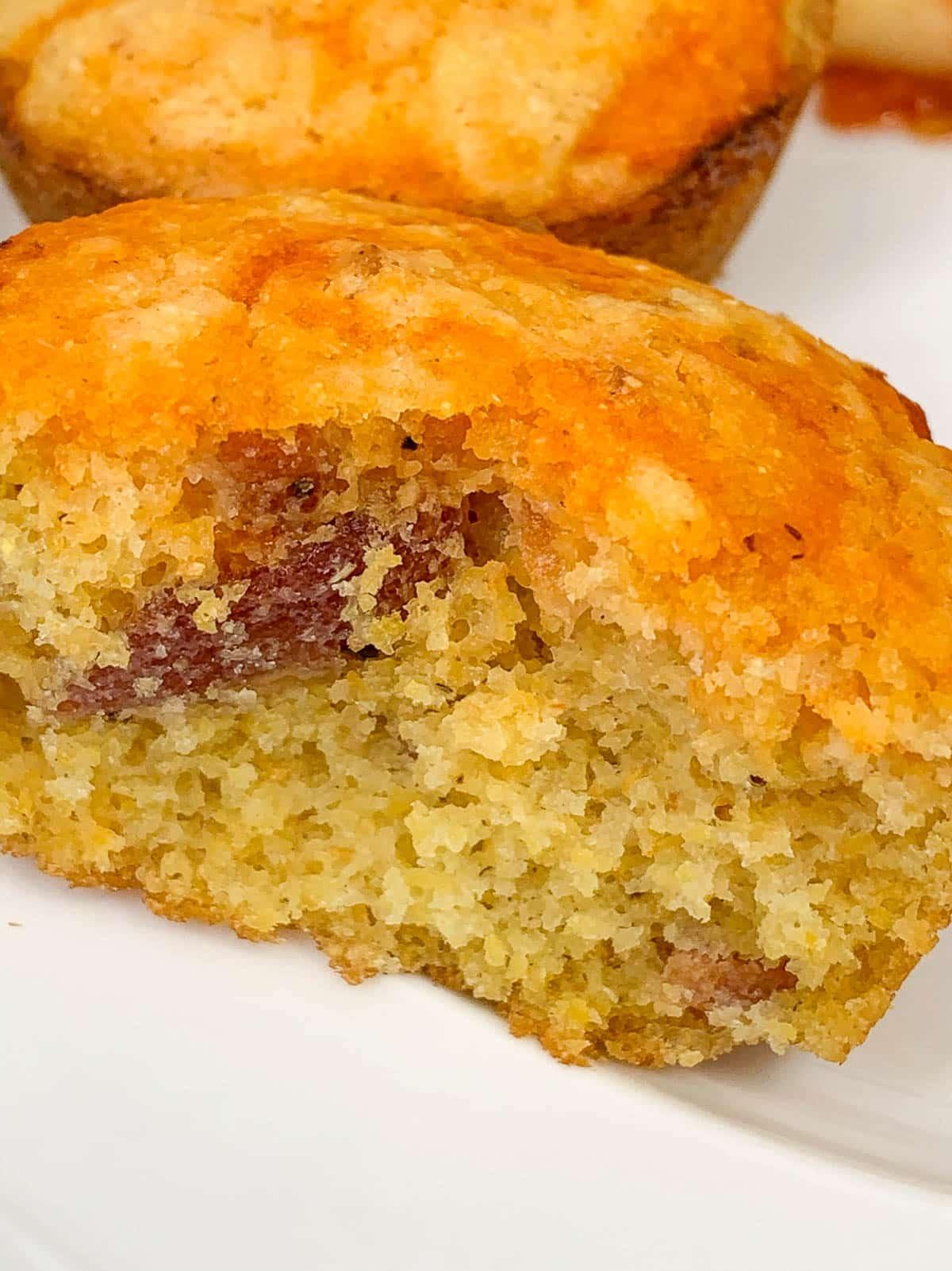 spicy bacon cornbread muffins