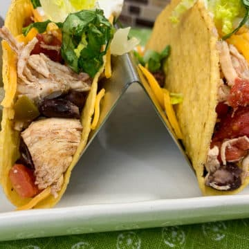 spicy chicken and black bean tacos