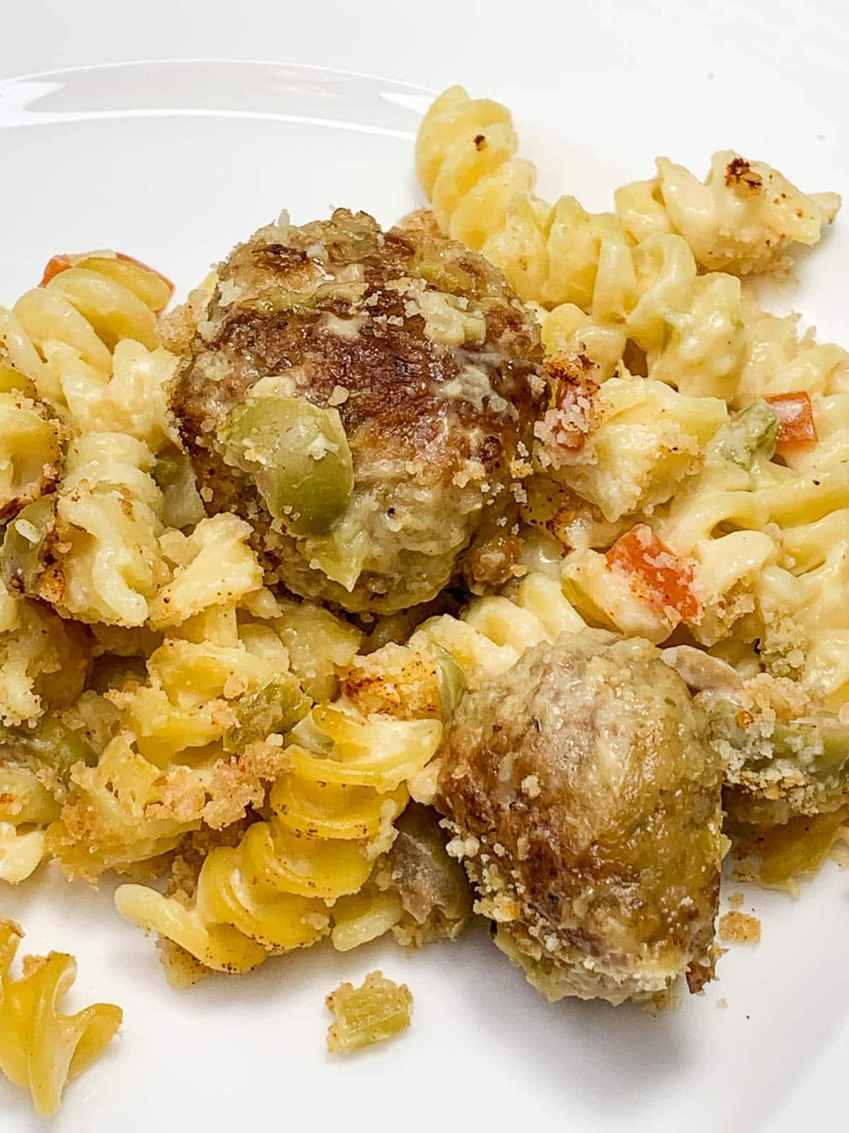 turkey meatballs olive casserole