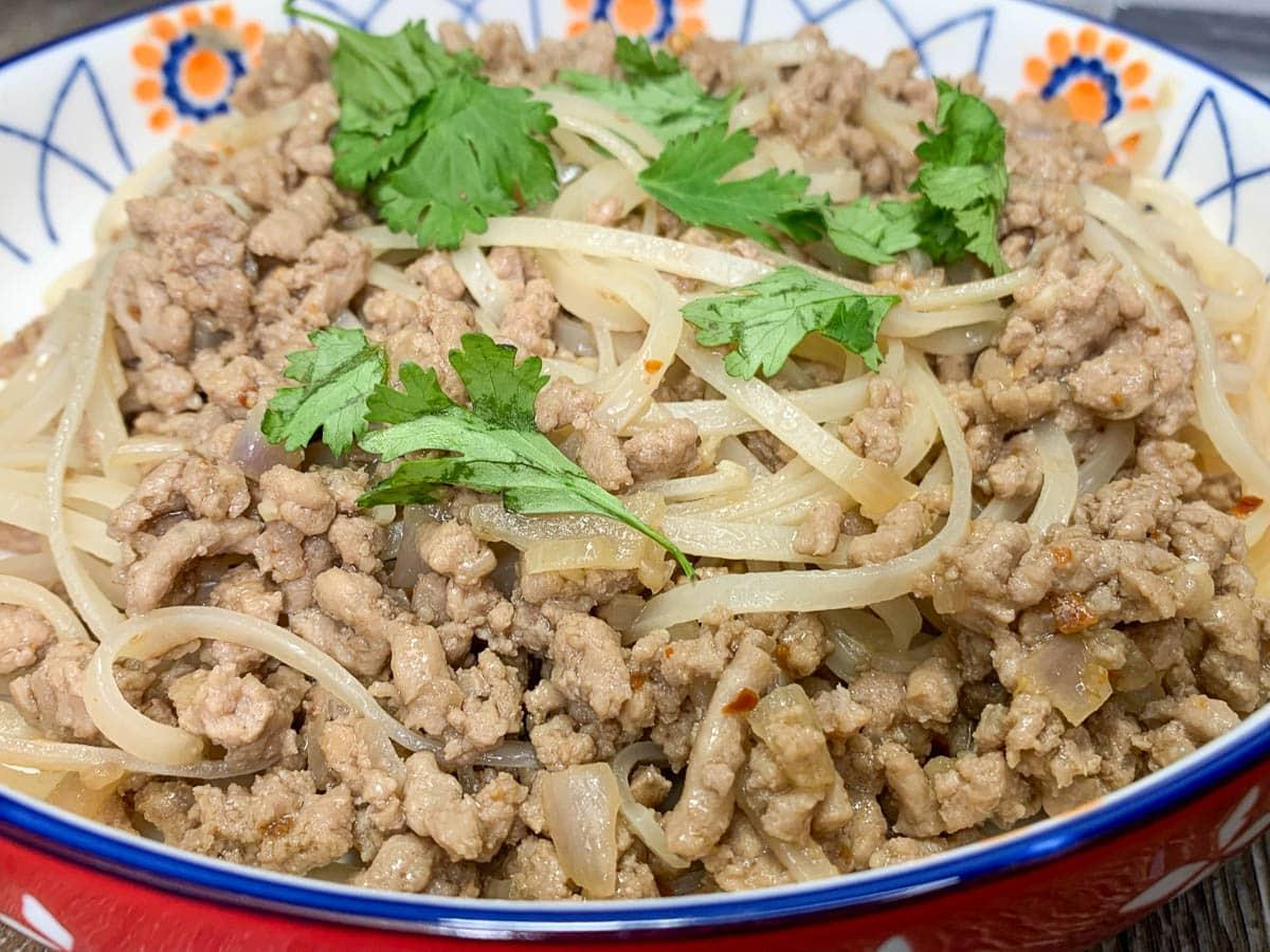 Szechuan Style Noodles with Turkey