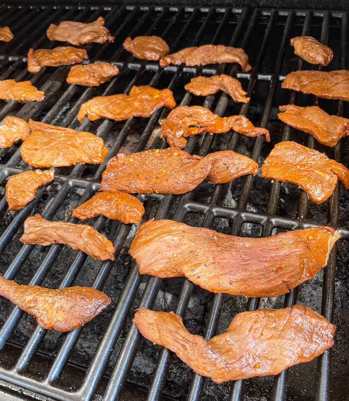beef jerky on the grill