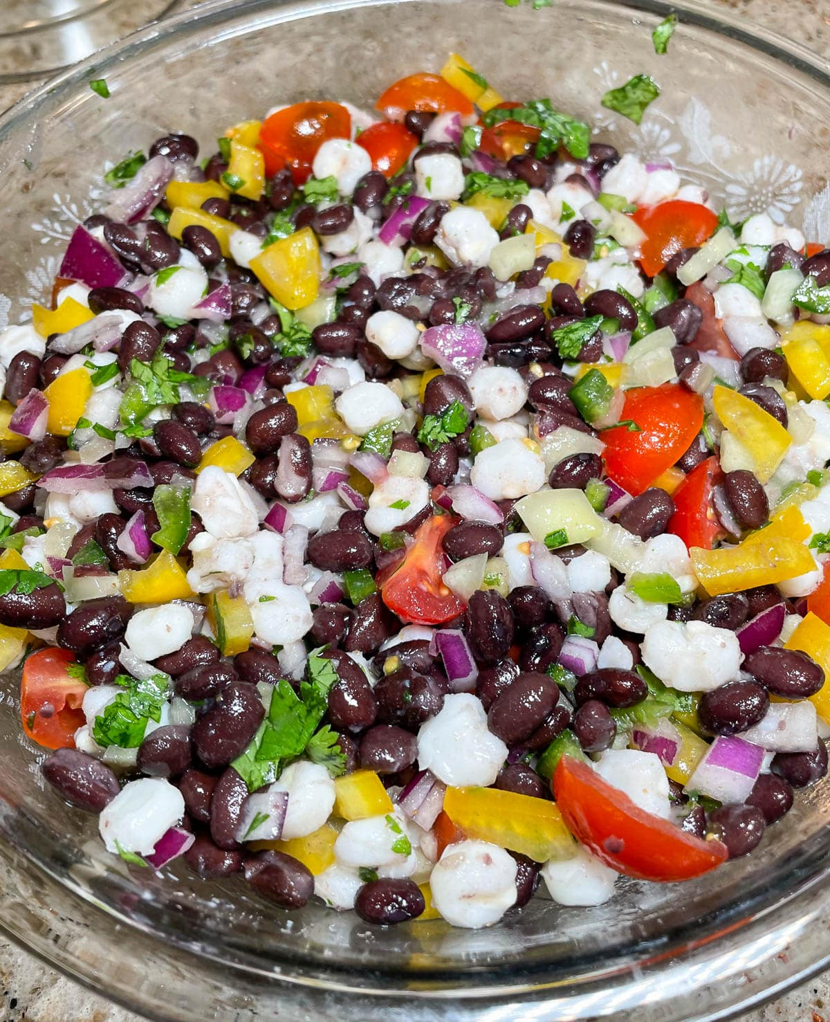 Mexican Black Bean and Hominy Salad