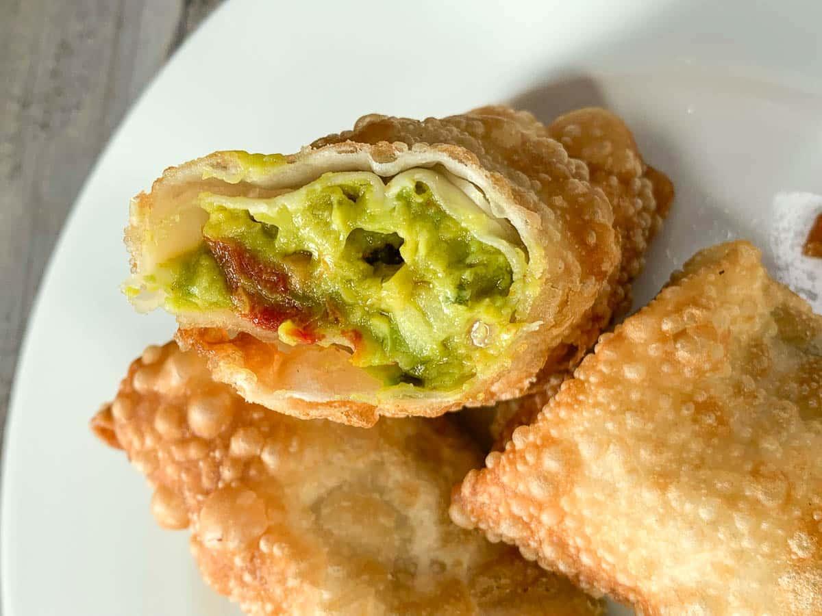 these jalapeño avocado egg rolls make a great appetizer
