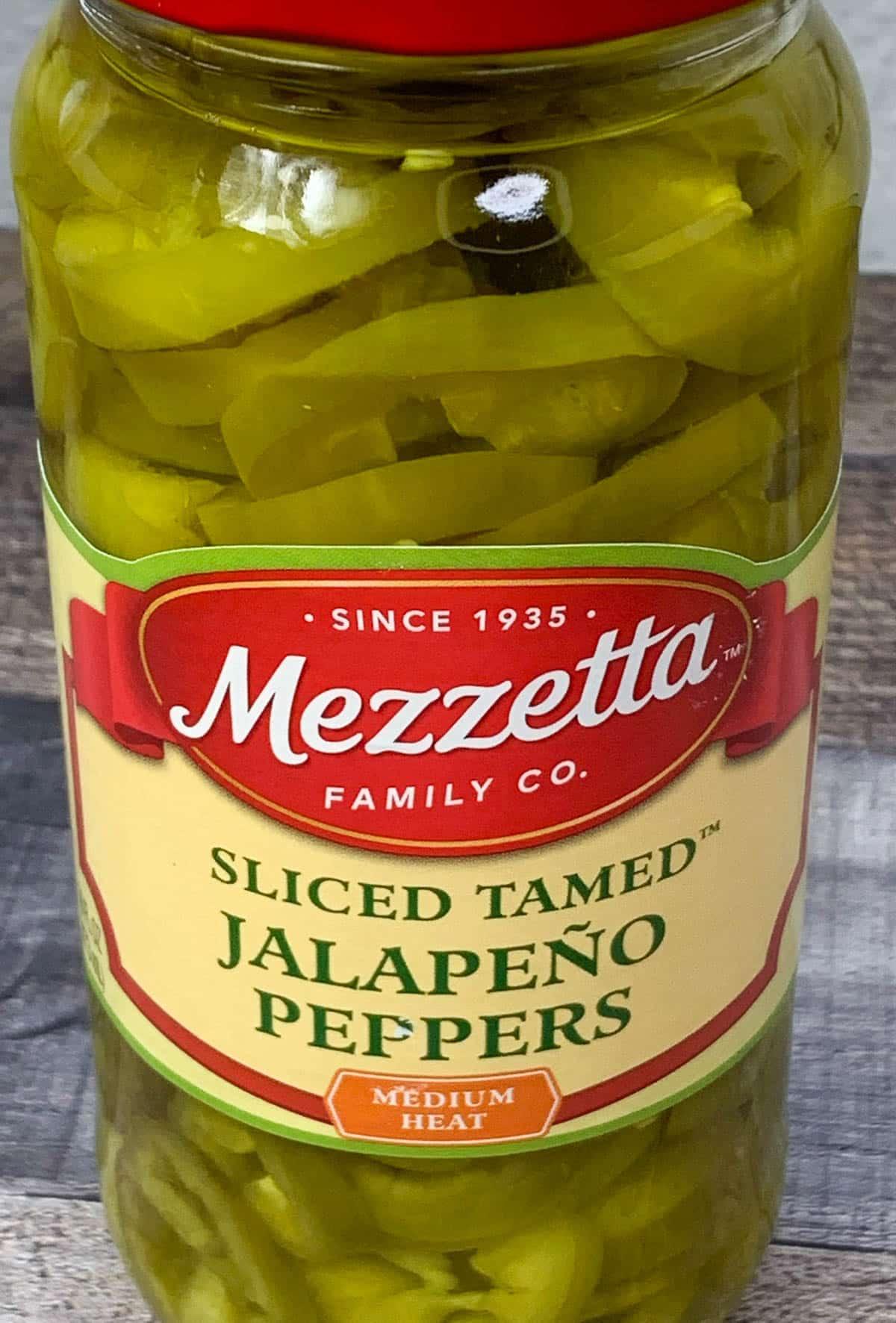 jar of jalapeño peppers