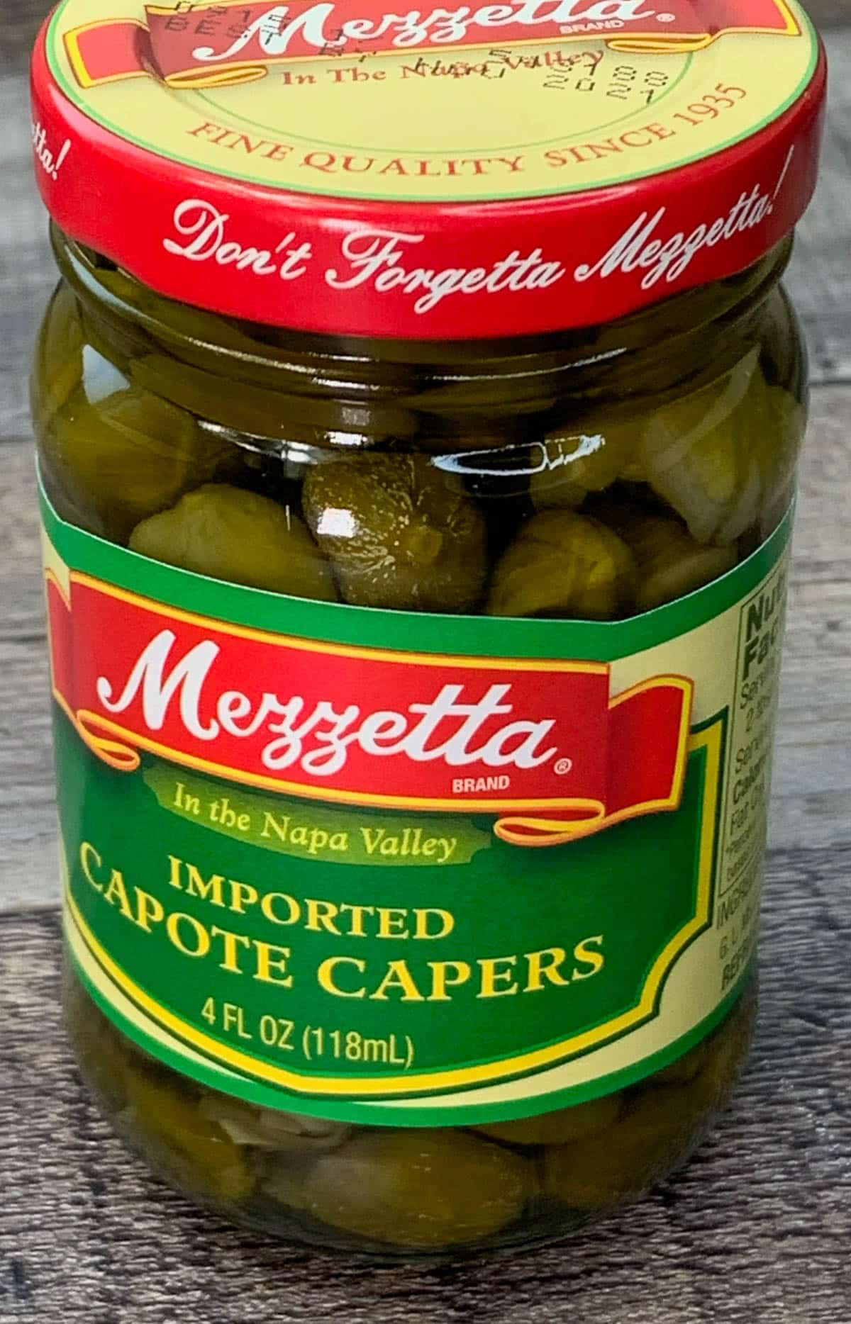 capers in a jar