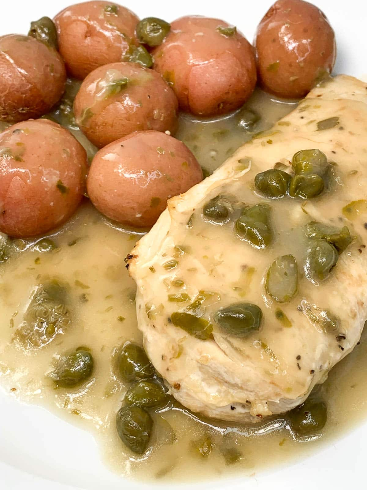 chicken piccata made in a slow cooker