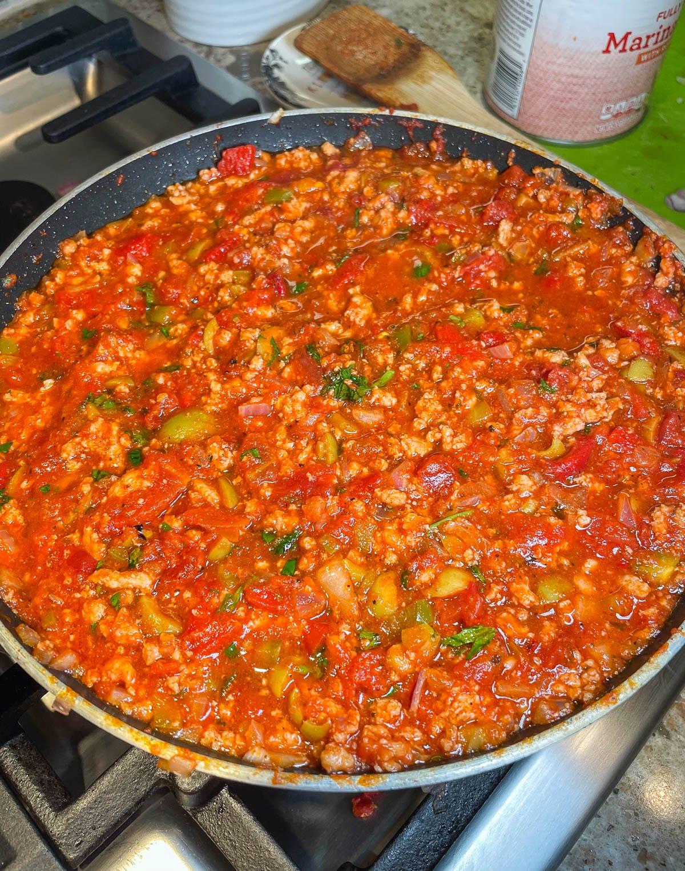 turkey and veggie mixture skillet